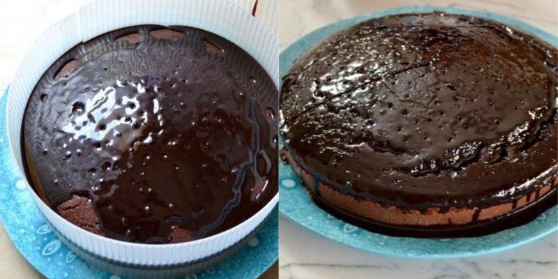 Շոկոլադե տորթ կարմիր գինով